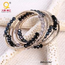 2014 trendige Achat Shell Kristall große Spule Armband (BR125164)