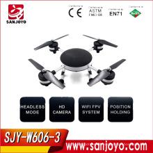 HUAJUN W606 - 3G 5.8G FPV 2 mega cámara 2.4G 4 canales 6 ejes Gyro FPV Quadcopter NEGRO SJY-W606-3G