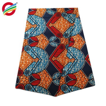 JLW-002 woven african real wax printed 100% cotton fabric