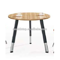Hot modern used round office desk white and teak upholstery, Pro office furniture supplier (JO-8072)