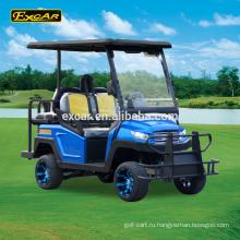 Excar 4 местный Электрический Гольф-автомобилей Троян аккумулятор электрический гольф-багги корзину
