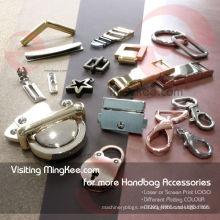 Bolso de piezas de accesorios de bloqueo de caja decorativos para accesorios de bolsa