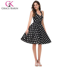 Grace Karin Retro Style Cotton 50s Polka Dots Dress 1950s Vintage dresses CL4599-1#