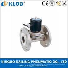 Válvulas solenóides de aço inoxidável com conexão de flange