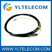 Cordón de remiendo de la fibra óptica del LC, cable de remiendo de fibra óptica impermeable de MM 50/125