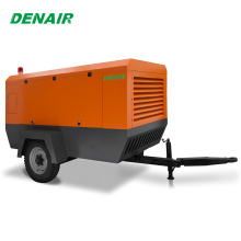 Silent diesel portable air screw compressor made in china for sale