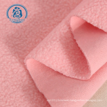 Good factory sweet pink polyester cotton fleece  hoodie fabric
