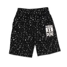 Deportes Casual Imprimir letra Shorts Negro Algodón