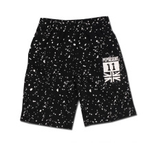 Sports Casual Print Letter Shorts Black Cotton
