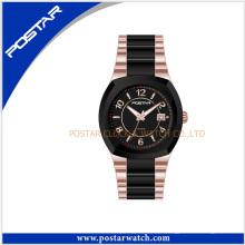 Reloj de cuarzo suizo de acero inoxidable de lujo para hombres