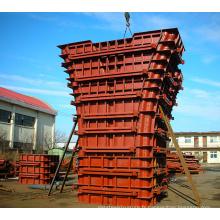 Coffrage en acier de béton de colonne de pilier en métal résistant