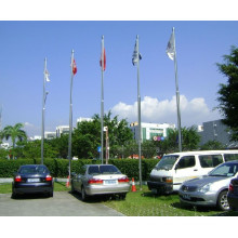 Car Use Galvanized Steel Flag Pole
