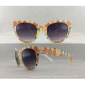 Óculos de sol nova mulher de injeção de moda com lente acrílica P02010