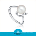 White Freshwater Pearl Ring Designs for Women (SH-J0080R)