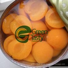 Hoher Qualität in Dosen Aprikosen im hellen Sirup