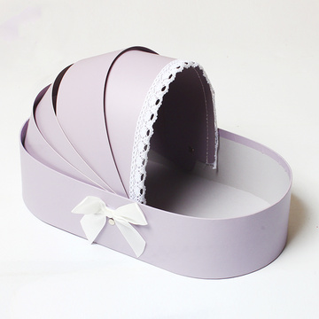 Baby Cradle Shape Flower Box Valentine's Day