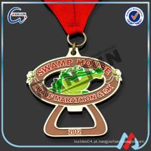 Moda ouro design sua própria medalha para a escola Competição
