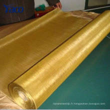 tissu de cuivre, tissu infusé par cuivre, tissu de maille de la terre