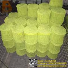 Galvanizar alambre de lazo doble recubierto de PVC recocido negro