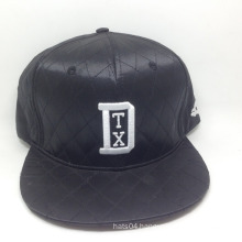 6 Panel fashion satin snapback cap