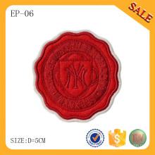 EP06 Forme los remiendos de encargo del bordado de la insignia 3D para la ropa / el sombrero / el bolso