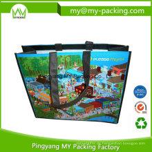 Überlegene Qualität Promotion Shopping PP gewebte Tasche mit Griff