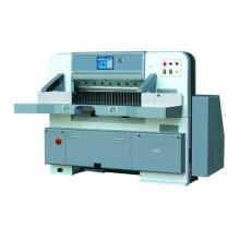 Toucher la machine de découpage de papier écran unique guide double hydraulique