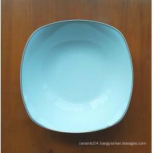 cheap square white ceramic plate in stock