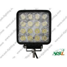 Lámpara de conducción todoterreno LED cuadrada de 48W