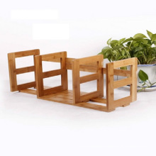 Customize Natural Bamboo Book End / Book Stand / Bookend