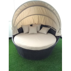 Outdoor patio garden leisure sofa bed with canopy