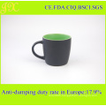 Factory Direct Supply Doule Tone Ceramic Coffee Mugs, Stoneware Coffee Cup