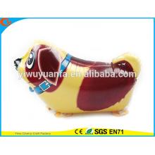 2016 горячая распродажа прогулки животных воздушный шар игрушки воздушный шар фольги собачка для Christms подарков