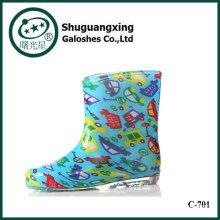 bottes de pluie de carton de mignons enfants Chaussures de pluie coréenne