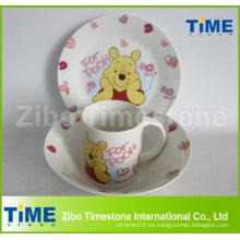 Juego de cena de cerámica porcelana para niños