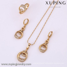 61816-Xuping Fashion Woman Jewlery Set with 18K Gold Plated