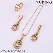 61816-Xuping Moda Mulher Jewlery Set com Banhado a Ouro 18K