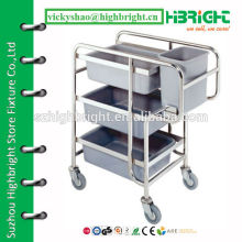 cleaning trolley collector trolley for plates and bowls
