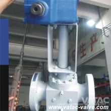 Пневматический / электрический приводной кованый стальной верхний шаровой кран с RF-концами