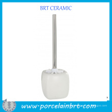 Cheap Square White Good Ceramic Toilet Brush Keeper