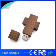 Chaveiro de madeira USB Flash Drive dom promocional