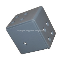 Support d'angle cubique à 3 voies en acier