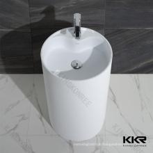 Round Stone Import Outdoor Standing Wash Basin Bathroom Sinks Pedestal Sink
