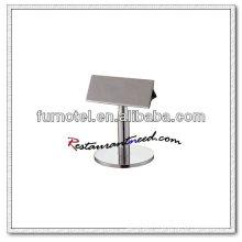 T228 H85mm Titulaire de menu en forme de T en acier inoxydable