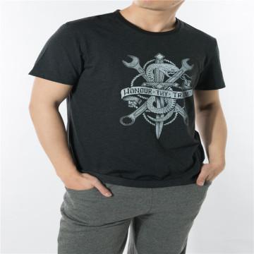WFF01-Black pattern print tshirt in functional fabric