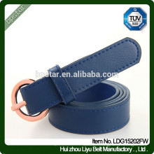 Fashion Thin Real Leather Bule Olive Buckle Ceinture / cintos de couro Magro