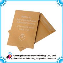 maßgeschneiderte hochwertige Offset-Kraftpapier Recyclingpapier Umschlag