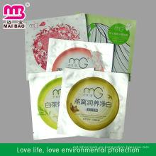Bolsa de paquete de máscara facial de rejilla de alimentos para el embalaje cometario