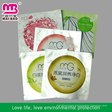 Food grate facial mask pack bag for cometic packaging