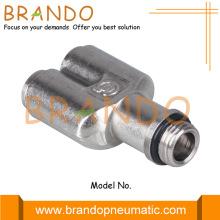 Conector giratorio de manguera neumática de latón tipo Y macho